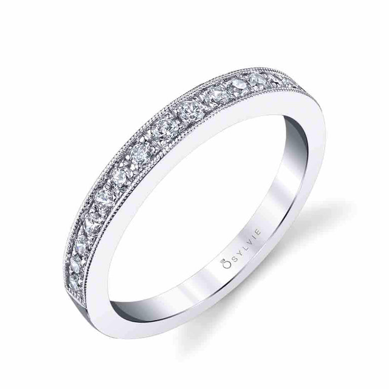 Classic Wedding Band With Milgrain Edge BS1387 - Chalmers Jewelers