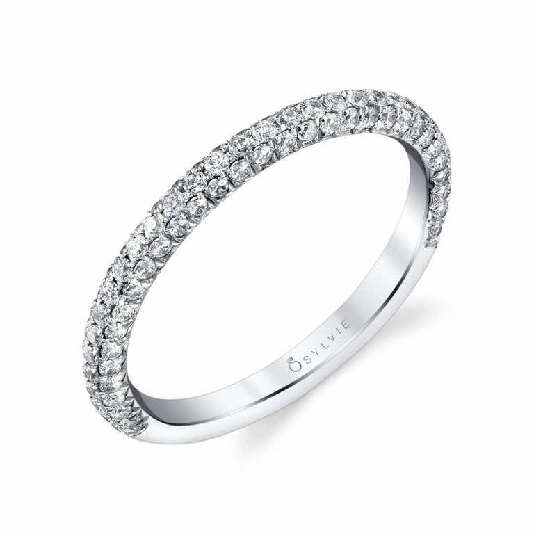 Wedding Band With Pave Diamonds BS1633 - Chalmers Jewelers