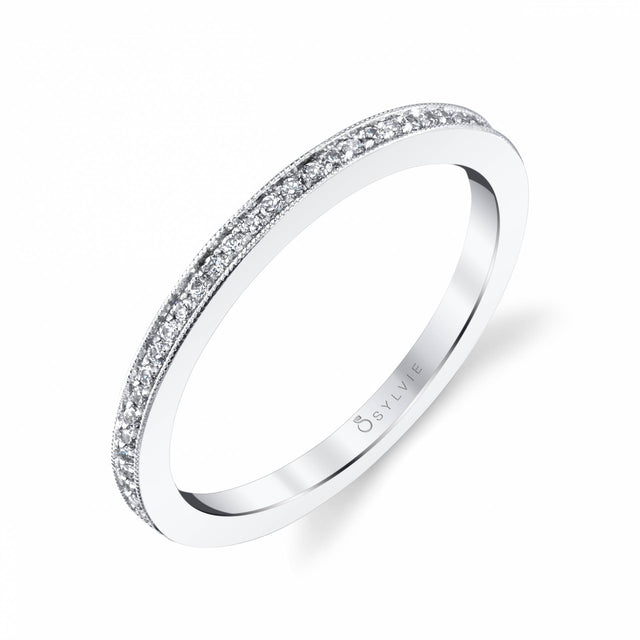 Classic Wedding Band With Milgrain Edge BS1803 - Chalmers Jewelers