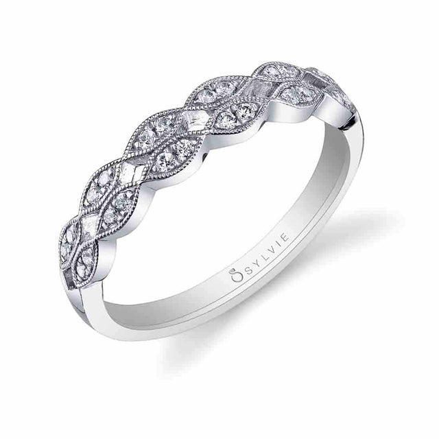 Marquise Shaped Wedding Band BSY818 - Chalmers Jewelers
