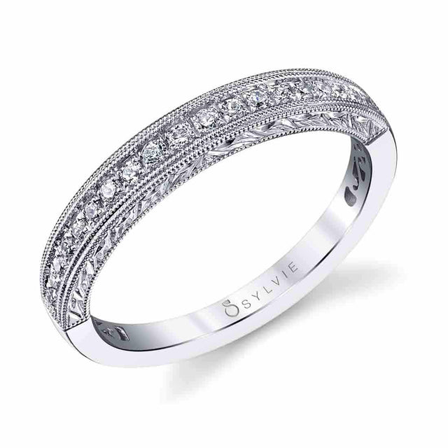 Hand Engraved Wedding Band BSY973 - Chalmers Jewelers
