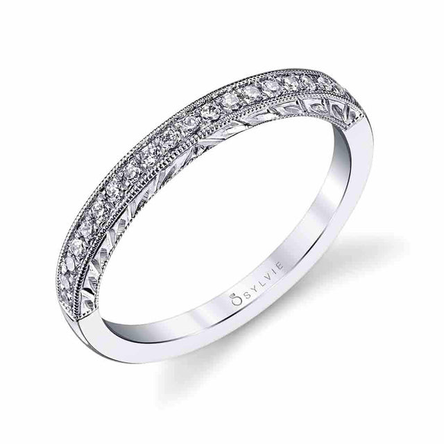 Hand Engraved Wedding Band BSY984 - Chalmers Jewelers