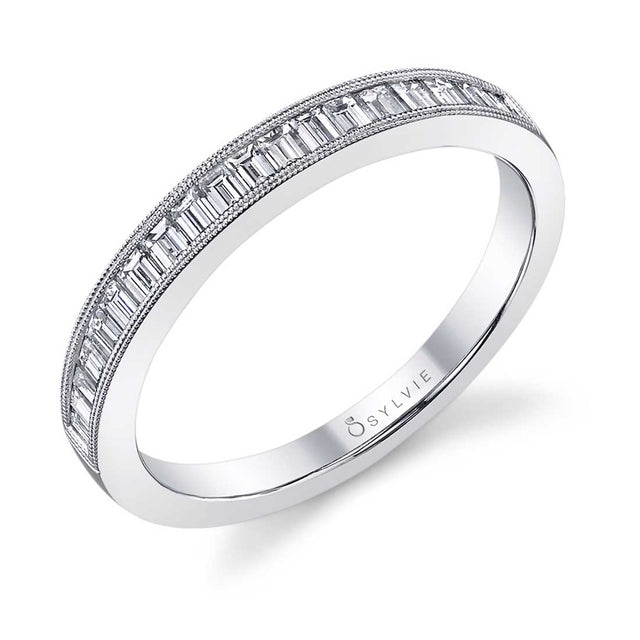 Baguette Wedding Band BSY711 - Chalmers Jewelers