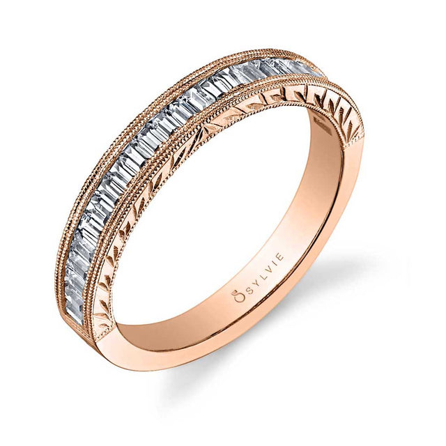 Modern Baguette Wedding Band BS1051 - Chalmers Jewelers