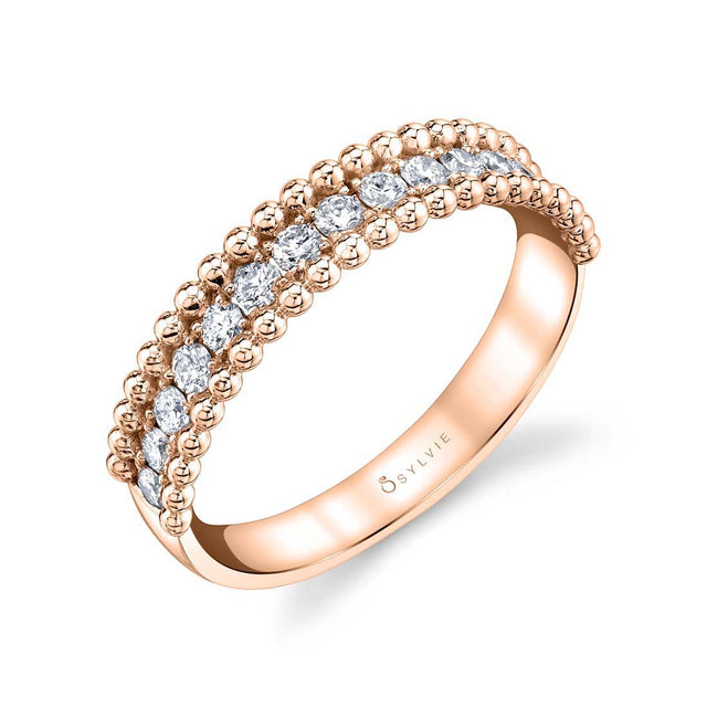 Beaded Stackable Band - MD B0044-042-MD - Chalmers Jewelers