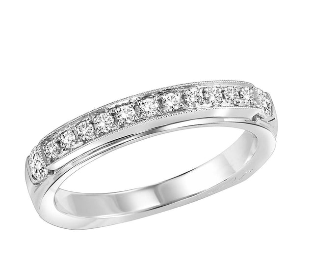18kt diamond band with 1/3 ctw - four metal options available