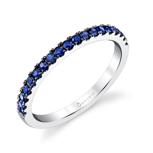 Classic Blue Sapphire Wedding Band B4006-BS - Chalmers Jewelers