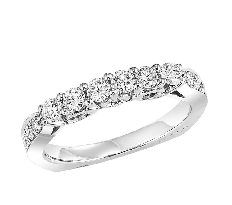 18kt diamond band with 5/8 ctw - four metal options available