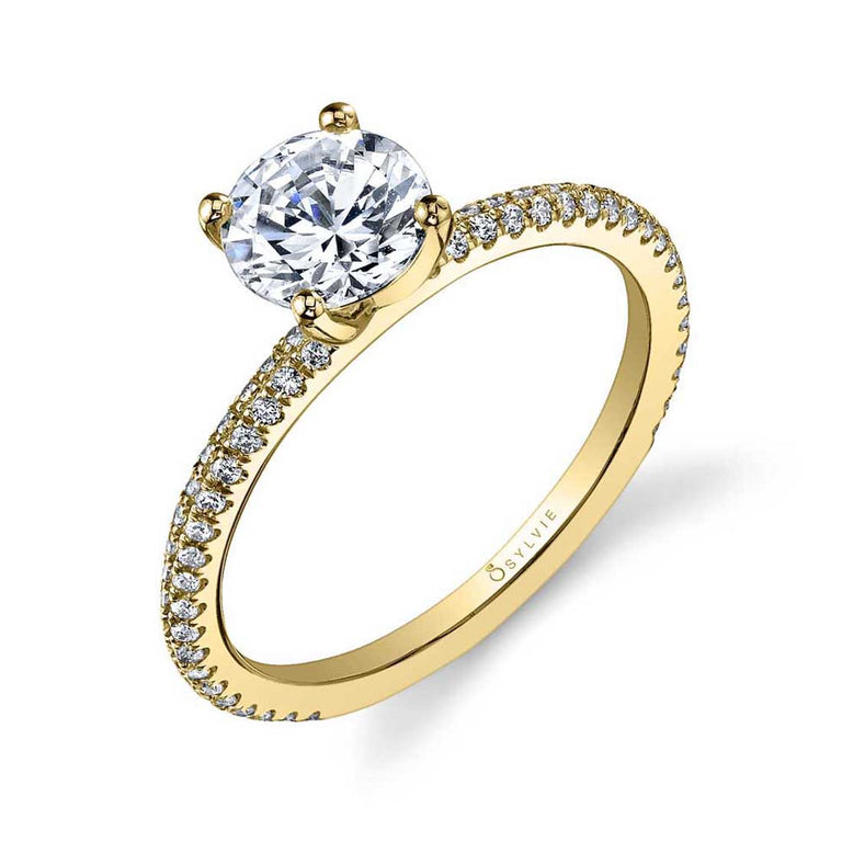 Classic Round Solitaire Engagement Ring SY131 - Chalmers Jewelers
