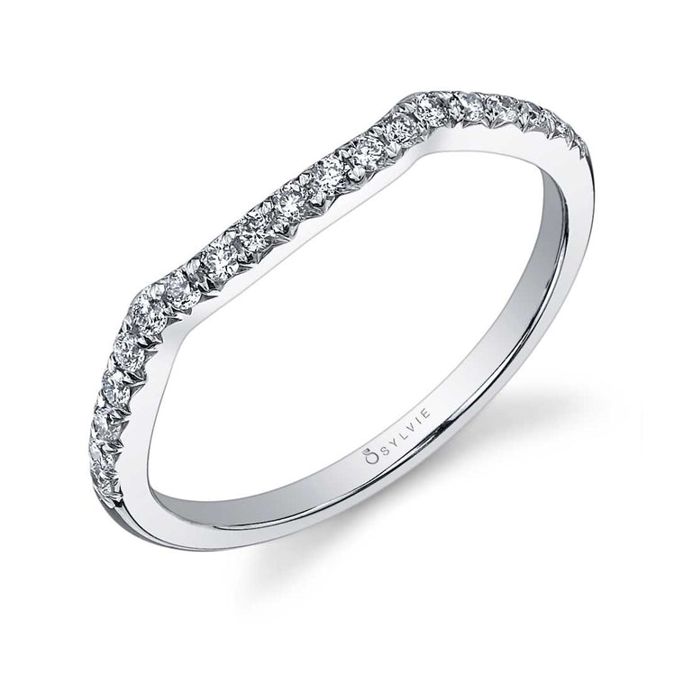 Classic Curved Wedding Band BSY892 - Chalmers Jewelers