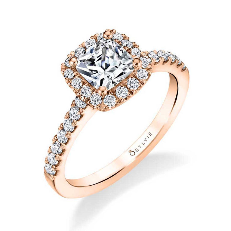 Cushion Cut Engagement Ring With Halo S1475-CU - Chalmers Jewelers