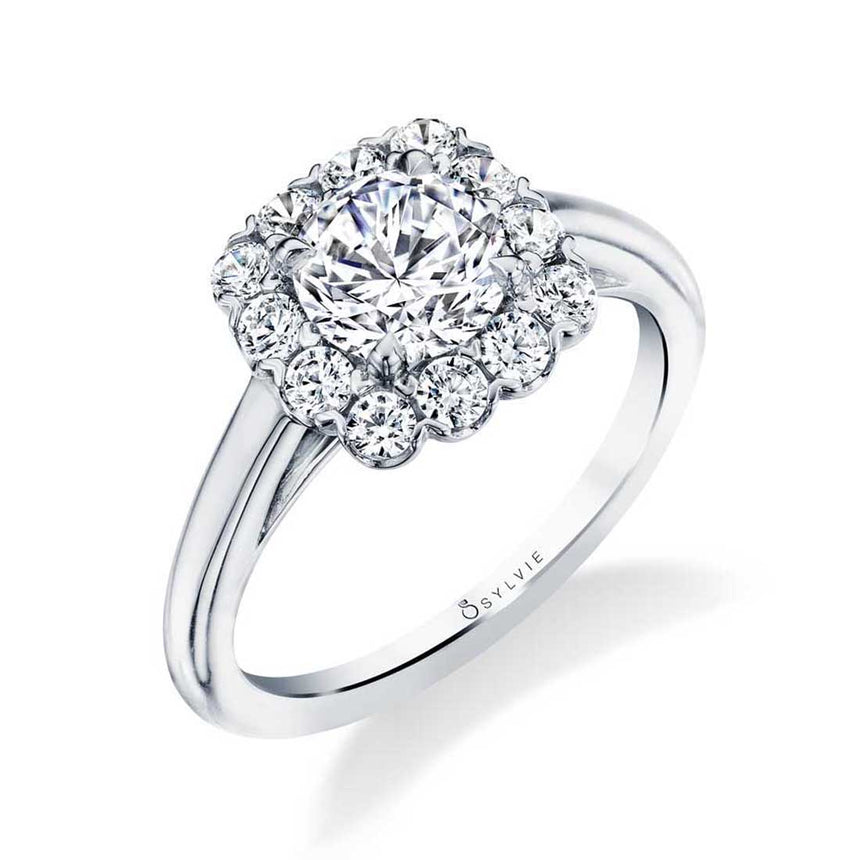 Classic Halo Engagement Ring S1756 - Chalmers Jewelers