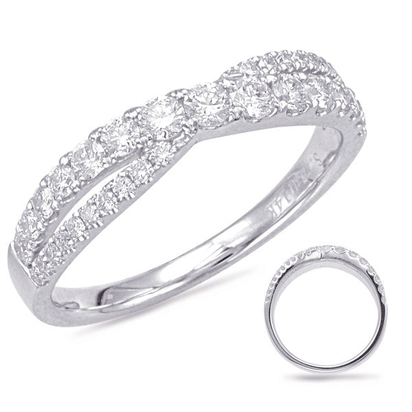 14kt White Gold Diamond Ring - Side View