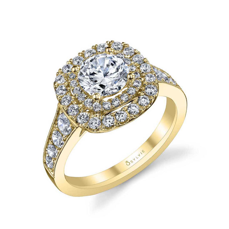 Double Halo Engagement Ring S1081 - Chalmers Jewelers