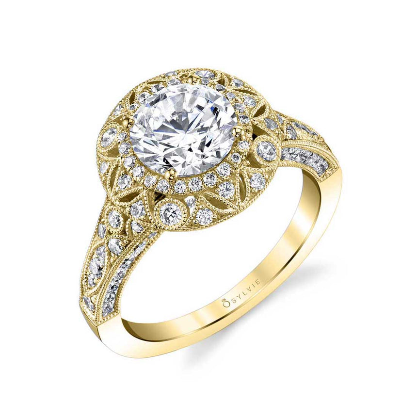 Vintage Inspired Engagement Ring S1866 - Chalmers Jewelers