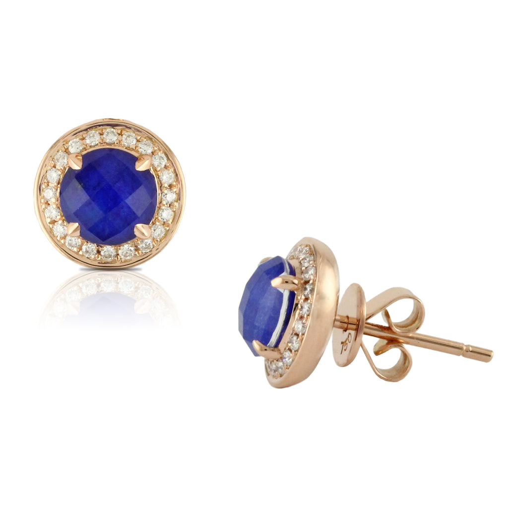 Royal Lapis Stud Earrings