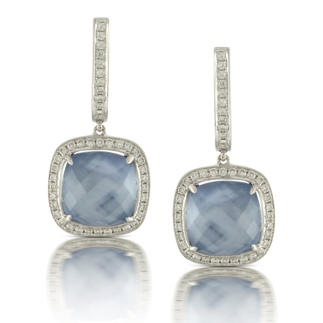 Lapis Mother of Pearl Earrings - Chalmers Jewelers