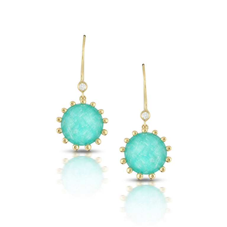 Amazonite and Diamond Earrings - Chalmers Jewelers