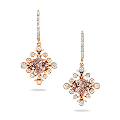 Morganite 18k Earrings