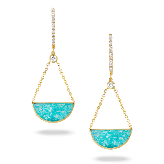Amazonite Diamond Earrings - Chalmers Jewelers
