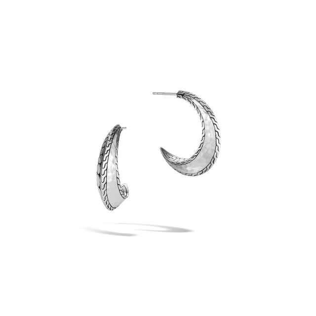 Dot Hammered Hoop Earring - Chalmers Jewelers