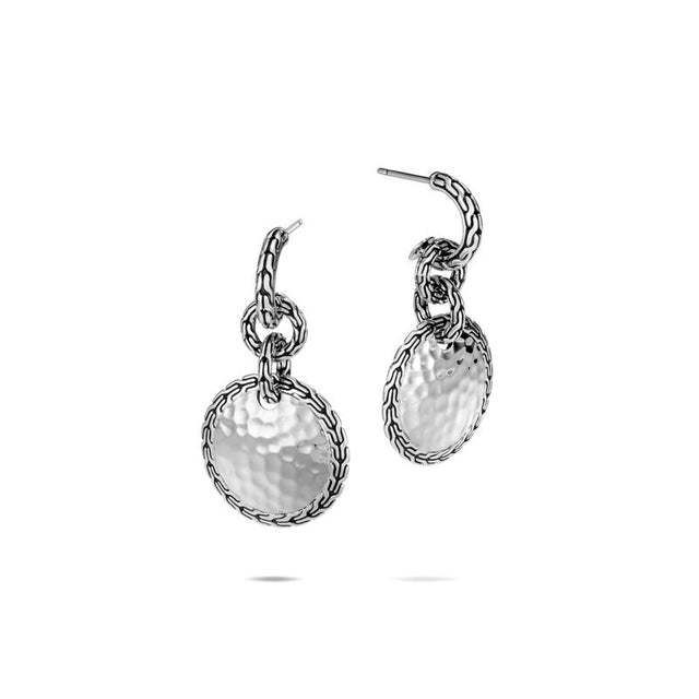 Classic Chain Hammered Drop Earring - Chalmers Jewelers
