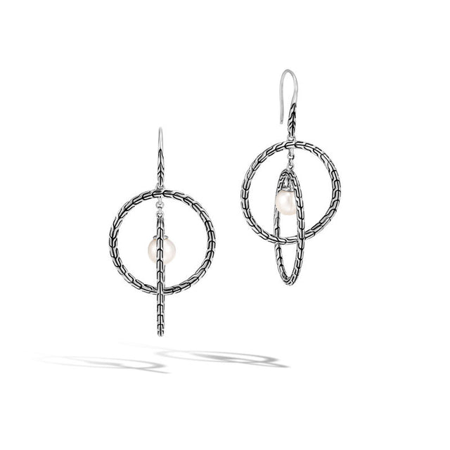 Classic Chain Drop Earring with Freshwater Pearl - Chalmers Jewelers