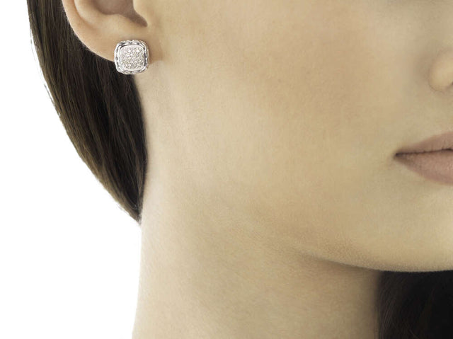Classic Chain Stud Earring with Diamonds - Chalmers Jewelers