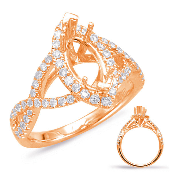 Rose Gold Halo Marquise Ring
