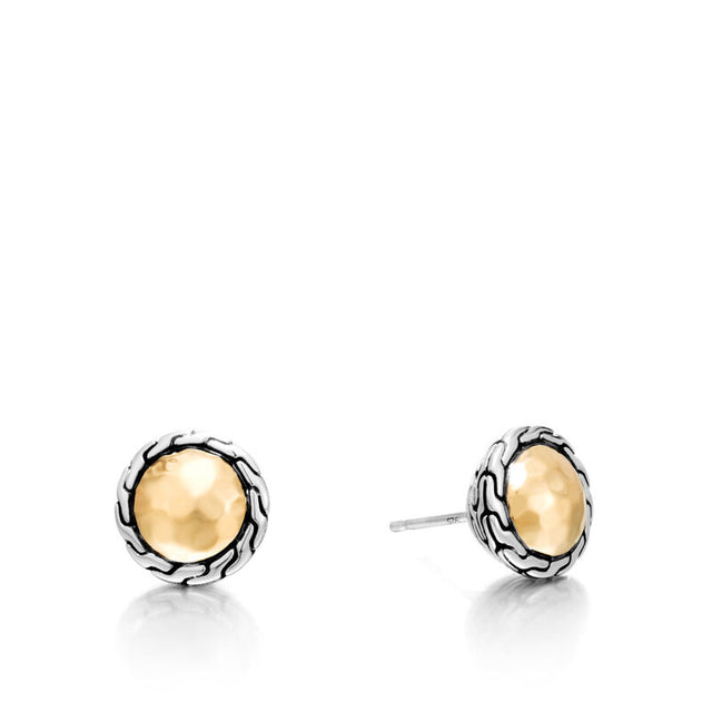 Classic Chain Round Hammered Stud Earring - Chalmers Jewelers