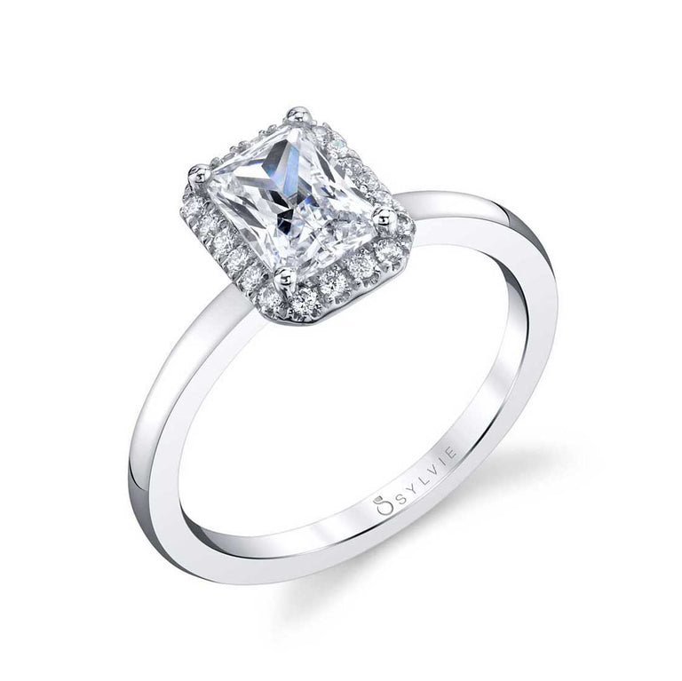 Emerald Cut Engagement Ring With Halo SY293-EM - Chalmers Jewelers