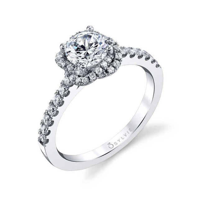 Flower Engagement Ring S1782 - Chalmers Jewelers