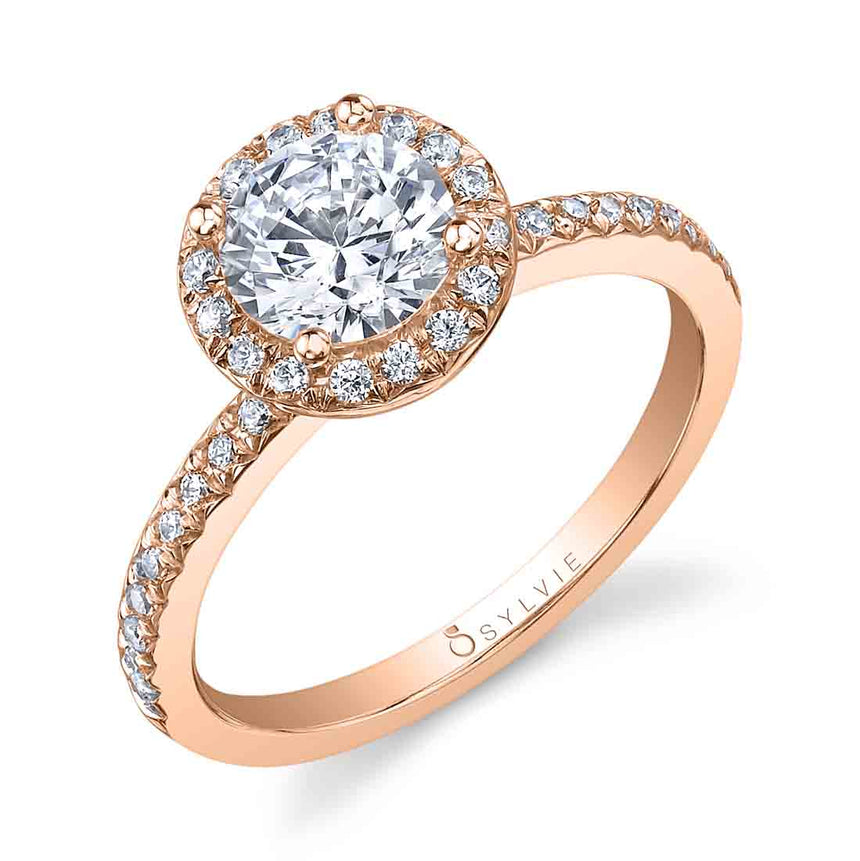 Round Halo Engagement Ring S1008-RB - Chalmers Jewelers