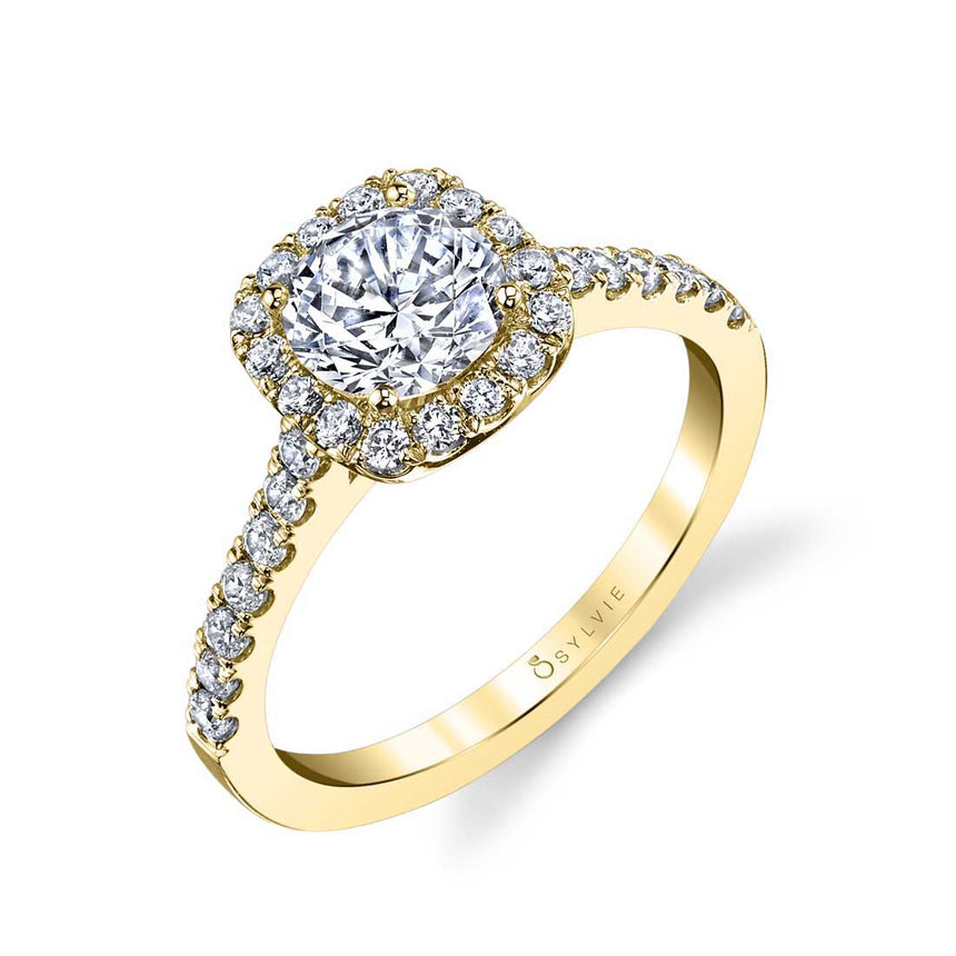 Classic Halo Engagement Ring S1475-RD - Chalmers Jewelers