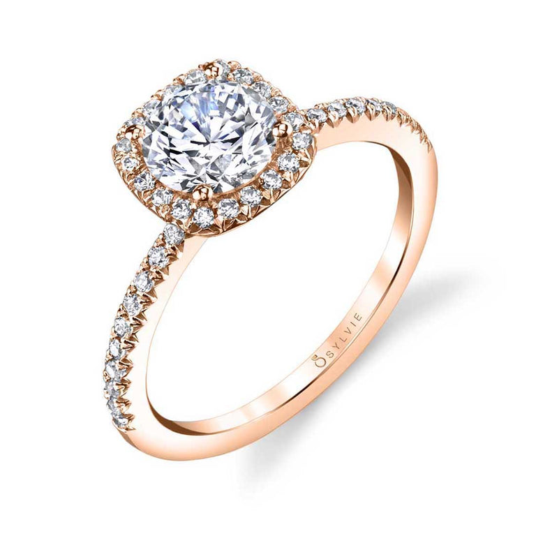 Classic Halo Engagement Ring S1526 - Chalmers Jewelers