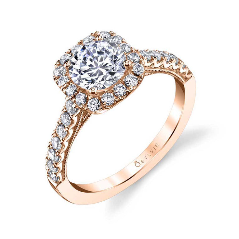 Halo Engagement Ring S1530 - Chalmers Jewelers