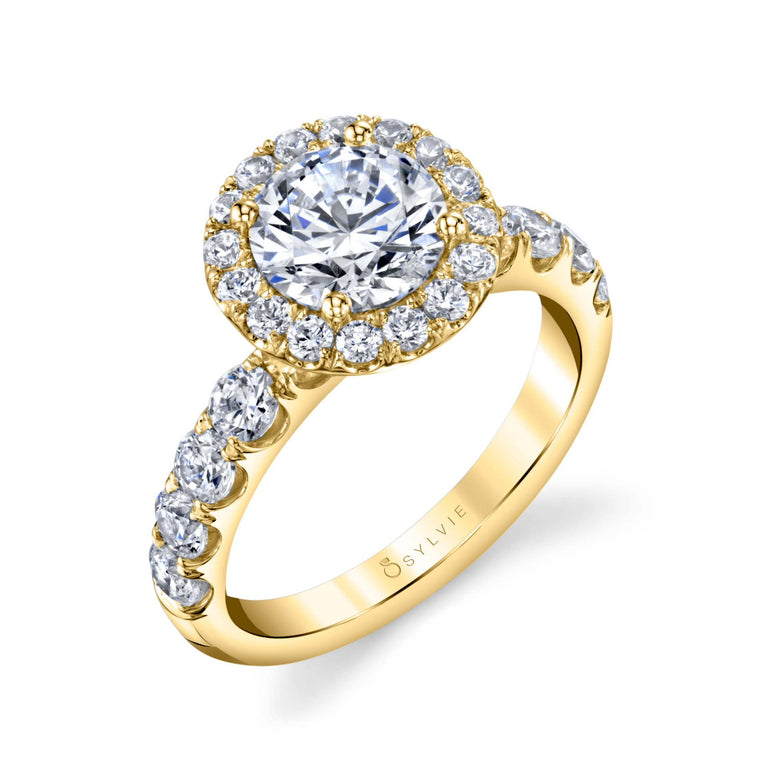Halo Engagement Ring SBUP-125 - Chalmers Jewelers