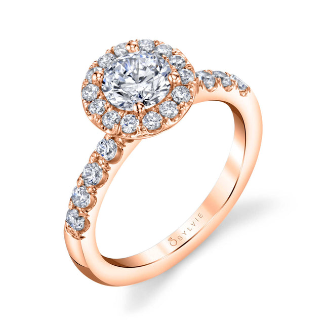 Halo Engagement Ring SBUP-54 - Chalmers Jewelers