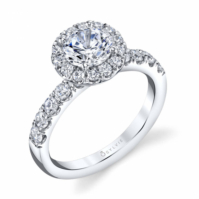 Halo Engagement Ring SBUP-76 - Chalmers Jewelers