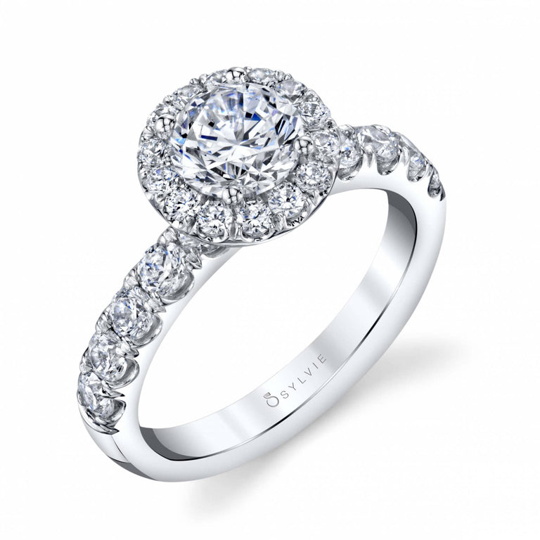 Halo Engagement Ring SBUP-98 - Chalmers Jewelers