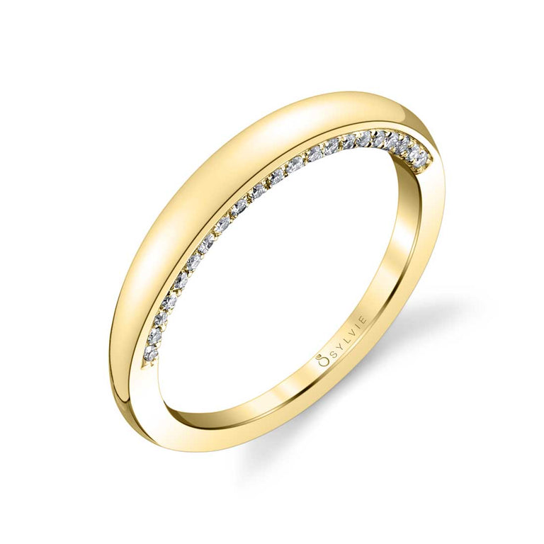 High Polish Diamond Wedding Band BSY700 - Chalmers Jewelers