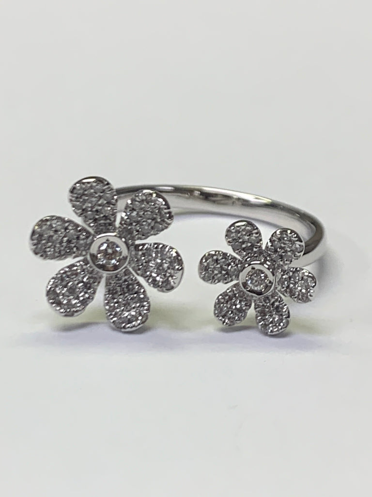 White Gold Flower Ring - Chalmers Jewelers