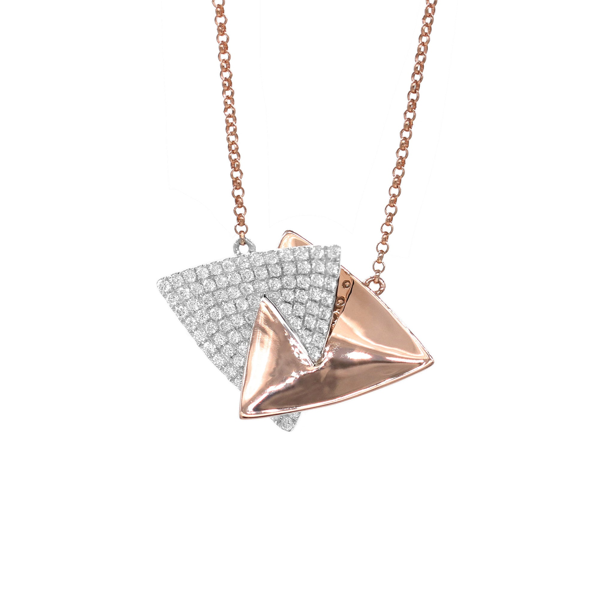 Interlocking Triangle Diamond Pendant