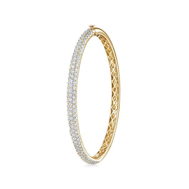 Moonlight Collection Medium Pave Diamond Bangle