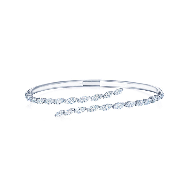 Kwiat Eclipse Marquise Open Diamond Bangle