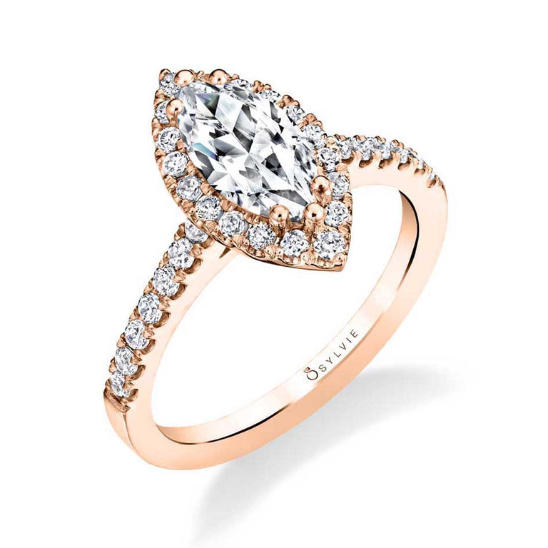 Marquise Engagement Ring With Halo S1475-MQ - Chalmers Jewelers
