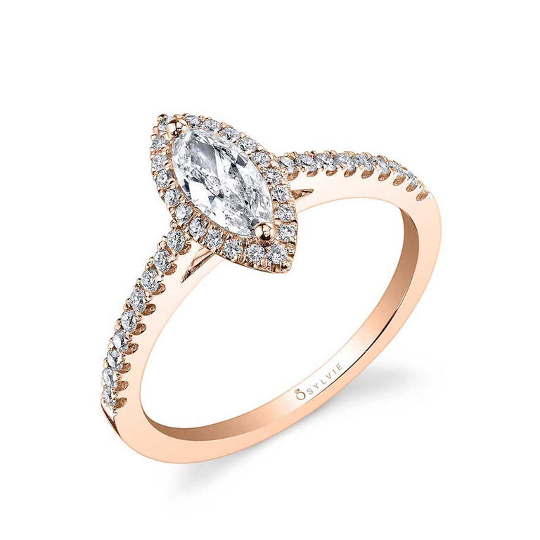 Marquise Halo Engagement Ring SY696-MQ - Chalmers Jewelers