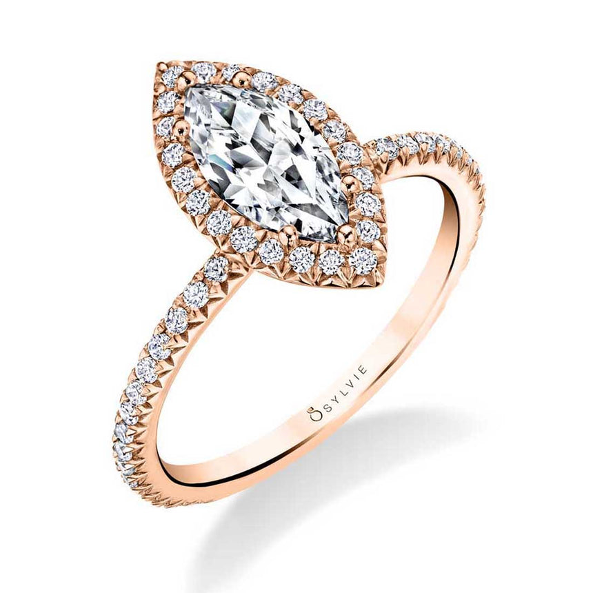 Marquise Halo Engagement Ring S1793-MQ - Chalmers Jewelers