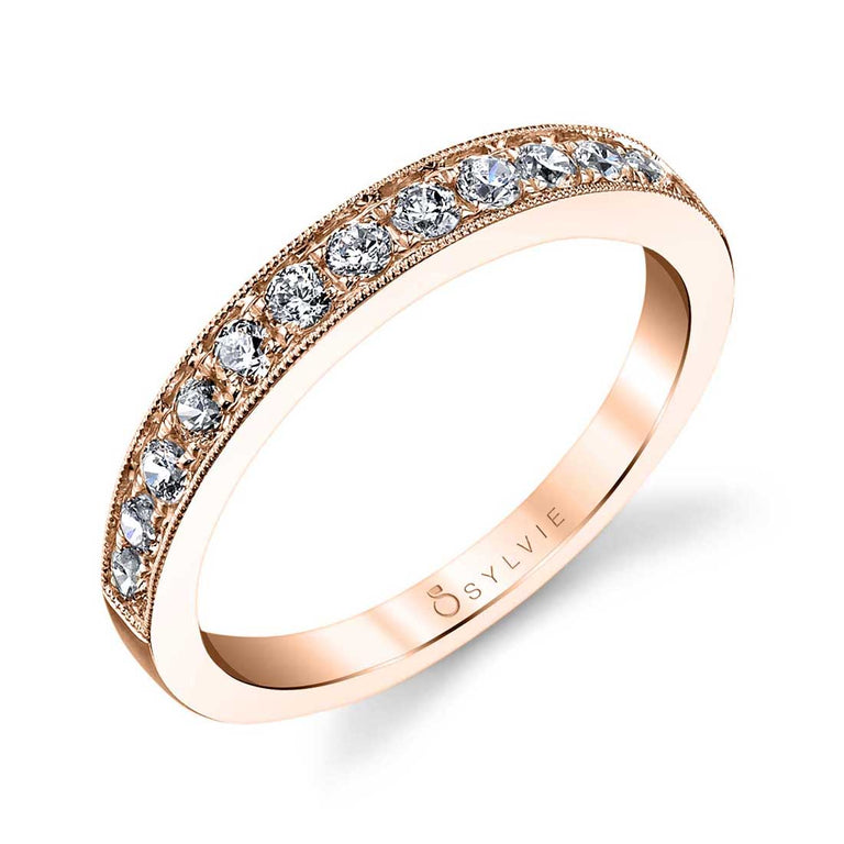 Classic Wedding Band With Milgrain Accents BS1081 - Chalmers Jewelers