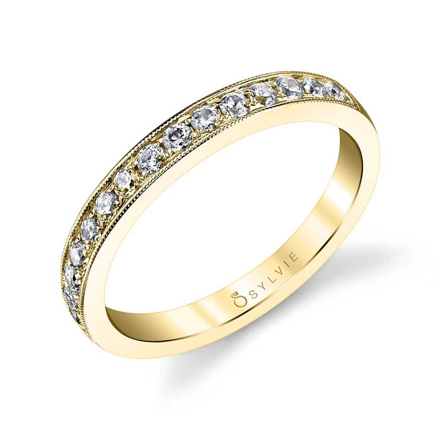 Classic Wedding Band With Milgrain Accents BS1083 - Chalmers Jewelers